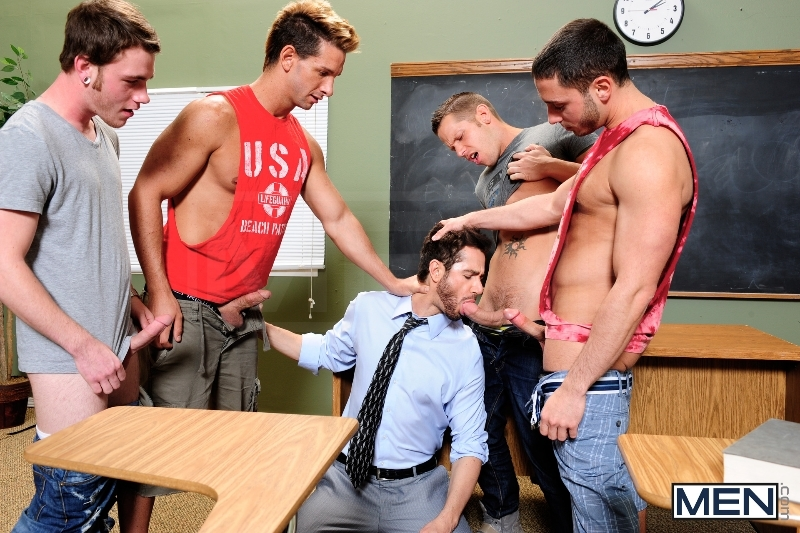 Honor Roll - Dean Monroe - Shane Frost - Drake Wild - Ayden Marx - Luke Marcum - Jizz Orgy - Men of Gay Porn - Photo #5