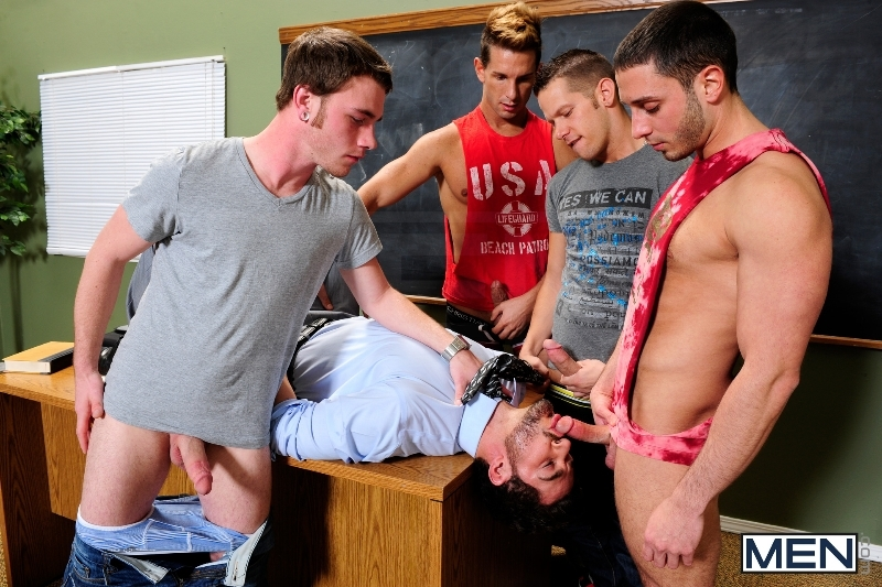 Honor Roll - Dean Monroe - Shane Frost - Drake Wild - Ayden Marx - Luke Marcum - Jizz Orgy - Men of Gay Porn - Photo #6