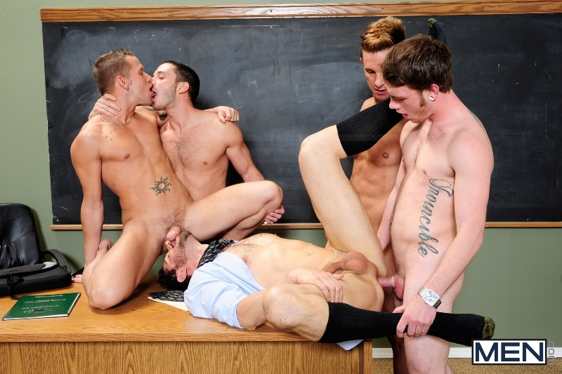 Honor Roll - Dean Monroe - Shane Frost - Drake Wild - Ayden Marx - Luke Marcum - Jizz Orgy - Men of Gay Porn - Photo #7