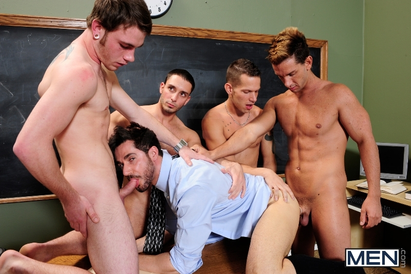 Honor Roll - Dean Monroe - Shane Frost - Drake Wild - Ayden Marx - Luke Marcum - Jizz Orgy - Men of Gay Porn - Photo #9