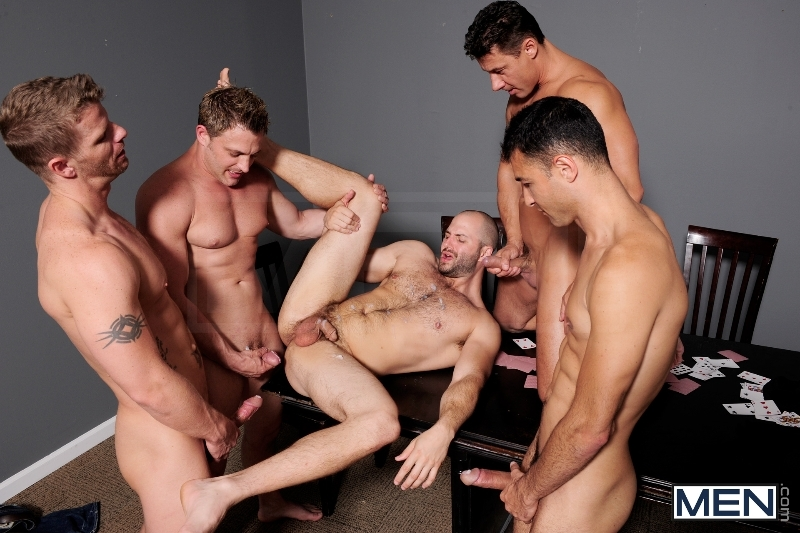 Ace Of Spades - David Chase - Luke Hass - Brenden Cage - Robert Van Damme - Jeremy Stevens - Jizz Orgy - Men of Gay Porn - Photo #10