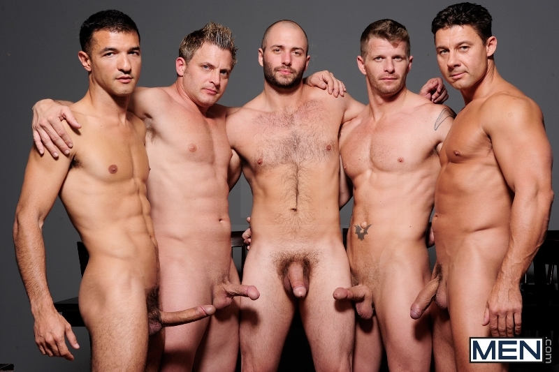 Ace Of Spades - David Chase - Luke Hass - Brenden Cage - Robert Van Damme - Jeremy Stevens - Jizz Orgy - Men of Gay Porn - Photo #2