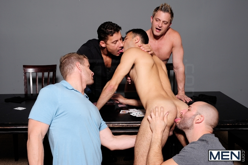 Ace Of Spades - David Chase - Luke Hass - Brenden Cage - Robert Van Damme - Jeremy Stevens - Jizz Orgy - Men of Gay Porn - Photo #3