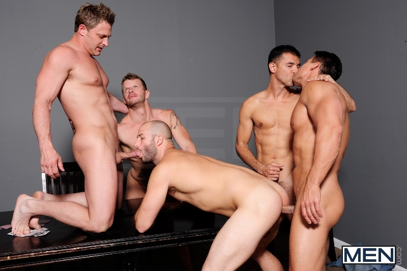 Ace Of Spades - David Chase - Luke Hass - Brenden Cage - Robert Van Damme - Jeremy Stevens - Jizz Orgy - Men of Gay Porn - Photo #7