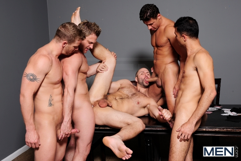 Ace Of Spades - David Chase - Luke Hass - Brenden Cage - Robert Van Damme - Jeremy Stevens - Jizz Orgy - Men of Gay Porn - Photo #9