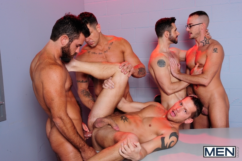 The Hacker - Dean Monroe - Shane Frost - Jessie Colter - Damien Stone - Trenton Ducati - Jizz Orgy - Men of Gay Porn - Photo #9