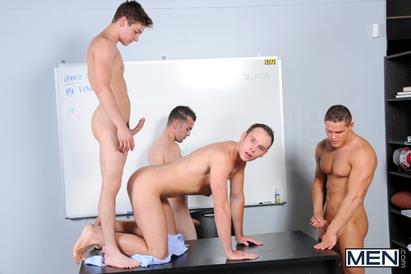 Blackboard Outline - Devin Adams - Johnny Rapid - Brad Foxx - Jared King - Jason Goodman - Jizz Orgy - Men of Gay Porn - Photo #10
