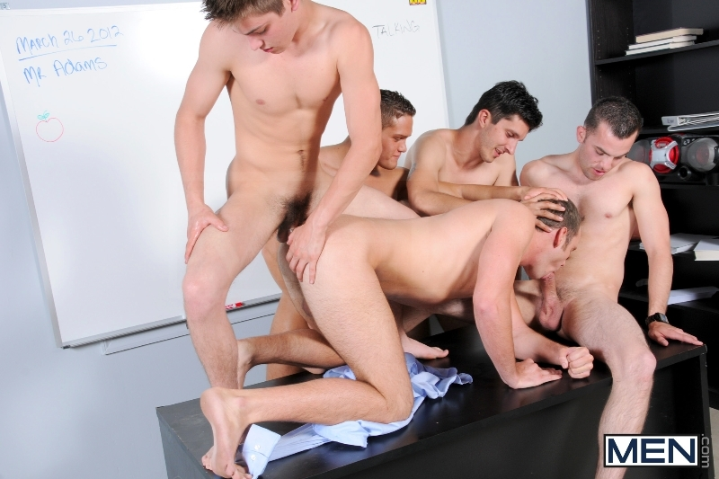 Blackboard Outline - Devin Adams - Johnny Rapid - Brad Foxx - Jared King - Jason Goodman - Jizz Orgy - Men of Gay Porn - Photo #11