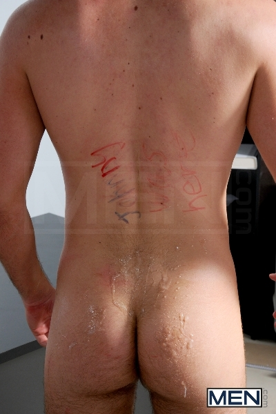 Blackboard Outline - Devin Adams - Johnny Rapid - Brad Foxx - Jared King - Jason Goodman - Jizz Orgy - Men of Gay Porn - Photo #16