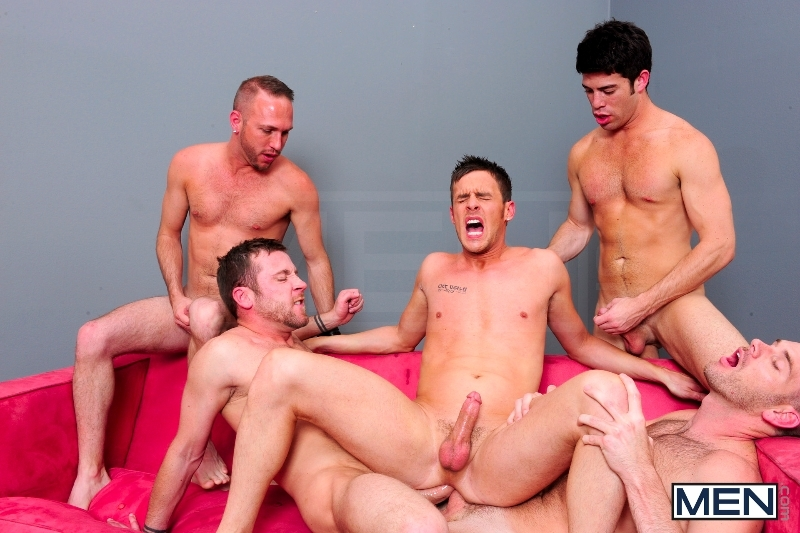 4 Tops 1 Bottom - Cole Streets - Trevor Knight - Tyr Alexander - Troy Collins - Rex Roddick - Jizz Orgy - Men of Gay Porn - Photo #10