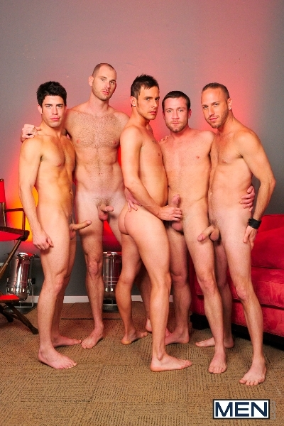 4 Tops 1 Bottom - Cole Streets - Trevor Knight - Tyr Alexander - Troy Collins - Rex Roddick - Jizz Orgy - Men of Gay Porn - Photo #2