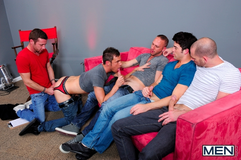 4 Tops 1 Bottom - Cole Streets - Trevor Knight - Tyr Alexander - Troy Collins - Rex Roddick - Jizz Orgy - Men of Gay Porn - Photo #6
