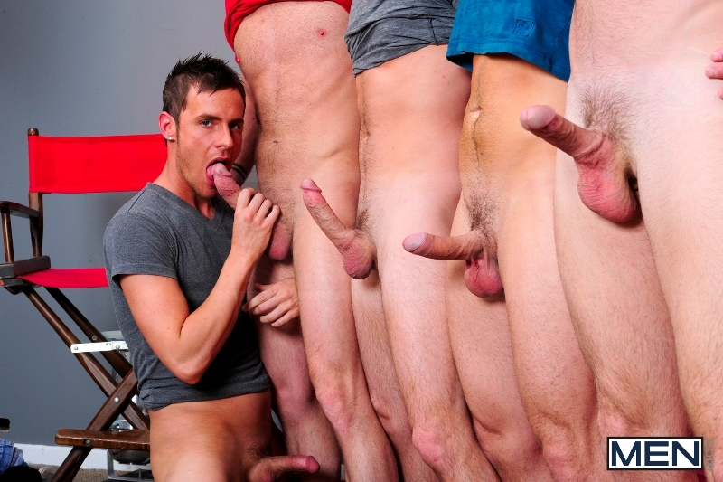 4 Tops 1 Bottom - Cole Streets - Trevor Knight - Tyr Alexander - Troy Collins - Rex Roddick - Jizz Orgy - Men of Gay Porn - Photo #7