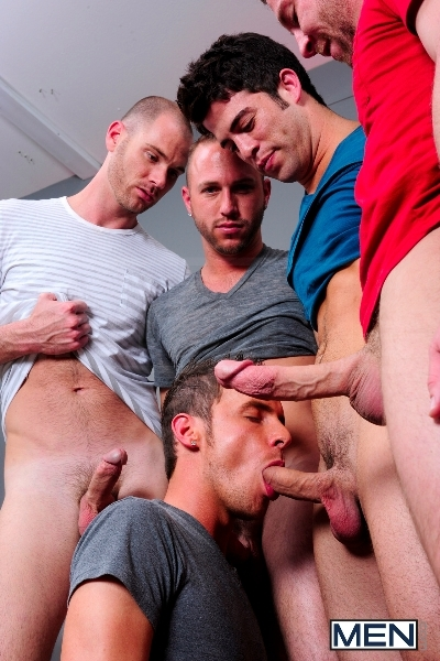 4 Tops 1 Bottom - Cole Streets - Trevor Knight - Tyr Alexander - Troy Collins - Rex Roddick - Jizz Orgy - Men of Gay Porn - Photo #8