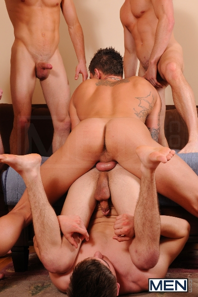 Johnny Rapid Gang Bang - Johnny Rapid - Tony Paradise - Sebastian Young - Rosso Twins - Jizz Orgy - Men of Gay Porn - Photo #19