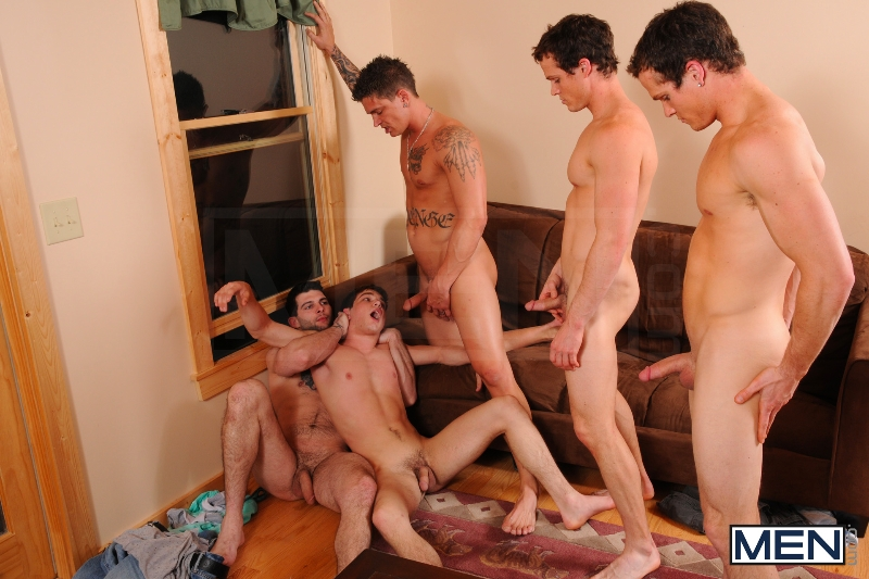 Johnny Rapid Gang Bang - Johnny Rapid - Tony Paradise - Sebastian Young - Rosso Twins - Jizz Orgy - Men of Gay Porn - Photo #2