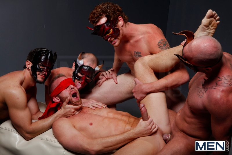 Masked Men - Cole Streets - Phenix Saint - Christopher Daniels - Mitch Vaughn - Micah Jones - Jizz Orgy - Men of Gay Porn - Photo #17
