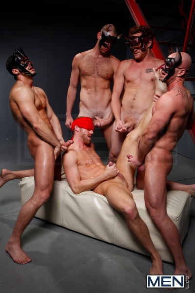 Masked Men - Cole Streets - Phenix Saint - Christopher Daniels - Mitch Vaughn - Micah Jones - Jizz Orgy - Men of Gay Porn - Photo #19