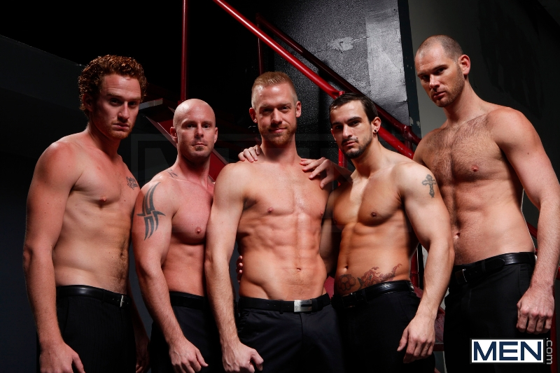 Masked Men - Cole Streets - Phenix Saint - Christopher Daniels - Mitch Vaughn - Micah Jones - Jizz Orgy - Men of Gay Porn - Photo #2