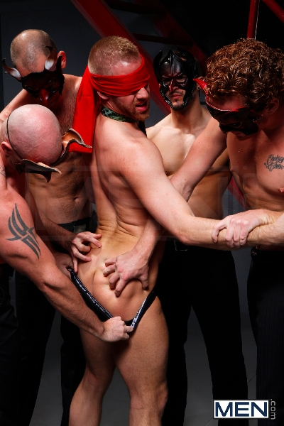 Masked Men - Cole Streets - Phenix Saint - Christopher Daniels - Mitch Vaughn - Micah Jones - Jizz Orgy - Men of Gay Porn - Photo #4