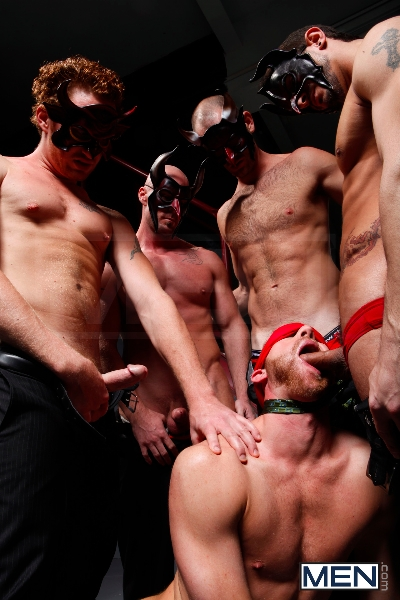 Masked Men - Cole Streets - Phenix Saint - Christopher Daniels - Mitch Vaughn - Micah Jones - Jizz Orgy - Men of Gay Porn - Photo #6