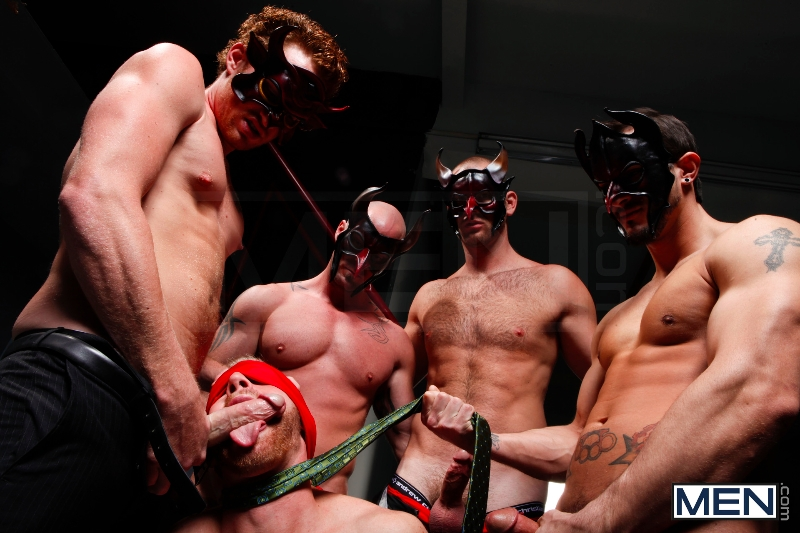 Masked Men - Cole Streets - Phenix Saint - Christopher Daniels - Mitch Vaughn - Micah Jones - Jizz Orgy - Men of Gay Porn - Photo #7