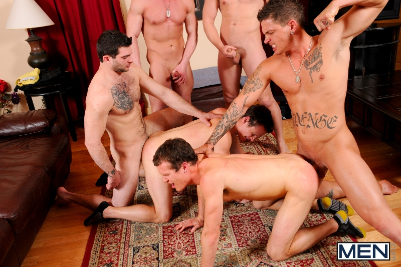 Disqualified - Tony Paradise - Sebastian Young - Rosso Twins - Hayden Richards - Aaron Anderson - Jizz Orgy - Men of Gay Porn - Photo #11