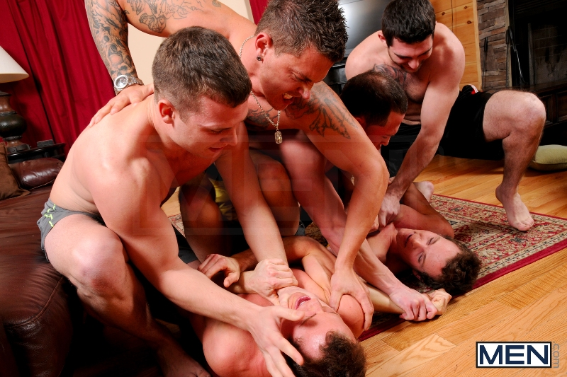 Disqualified - Tony Paradise - Sebastian Young - Rosso Twins - Hayden Richards - Aaron Anderson - Jizz Orgy - Men of Gay Porn - Photo #3