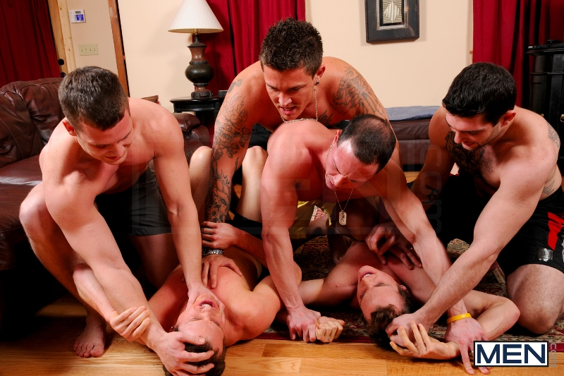 Disqualified - Tony Paradise - Sebastian Young - Rosso Twins - Hayden Richards - Aaron Anderson - Jizz Orgy - Men of Gay Porn - Photo #4