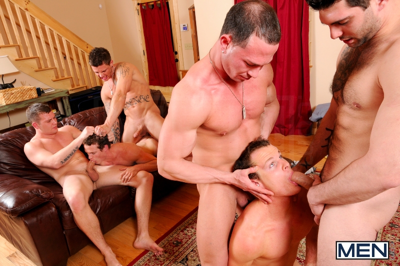 Disqualified - Tony Paradise - Sebastian Young - Rosso Twins - Hayden Richards - Aaron Anderson - Jizz Orgy - Men of Gay Porn - Photo #7