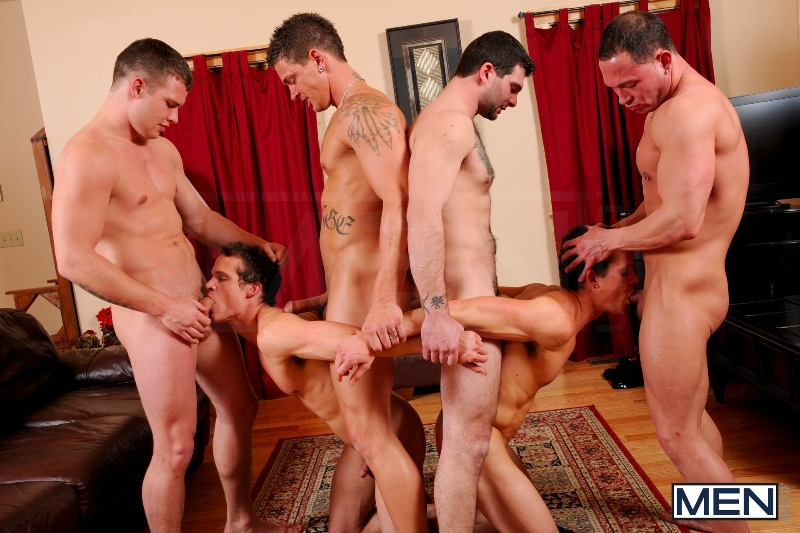 Disqualified - Tony Paradise - Sebastian Young - Rosso Twins - Hayden Richards - Aaron Anderson - Jizz Orgy - Men of Gay Porn - Photo #9