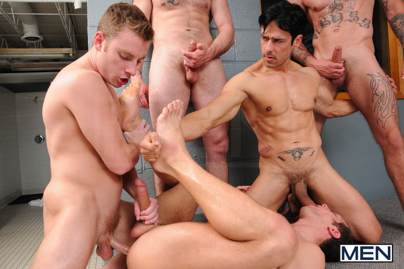 Coach Got A Boner - Rafael Alencar - Ricky Sinz - Tony Paradise - Spencer Fox - Sebastian Keys - Jizz Orgy - Men of Gay Porn - Photo #17