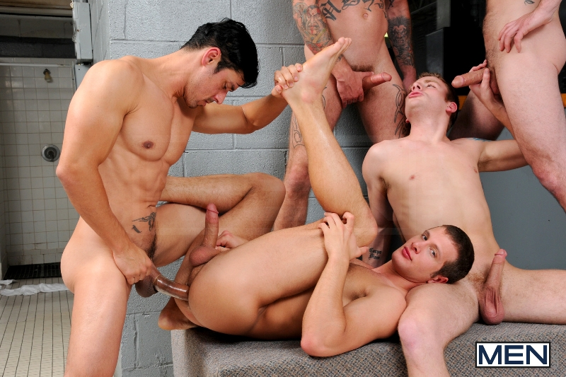 Coach Got A Boner - Rafael Alencar - Ricky Sinz - Tony Paradise - Spencer Fox - Sebastian Keys - Jizz Orgy - Men of Gay Porn - Photo #18