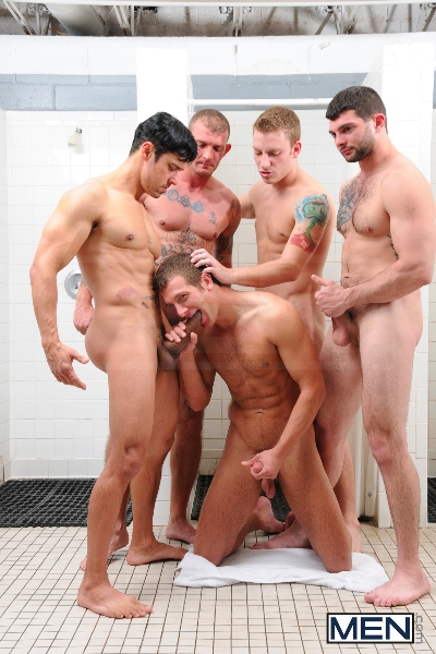 Coach Got A Boner - Rafael Alencar - Ricky Sinz - Tony Paradise - Spencer Fox - Sebastian Keys - Jizz Orgy - Men of Gay Porn - Photo #7