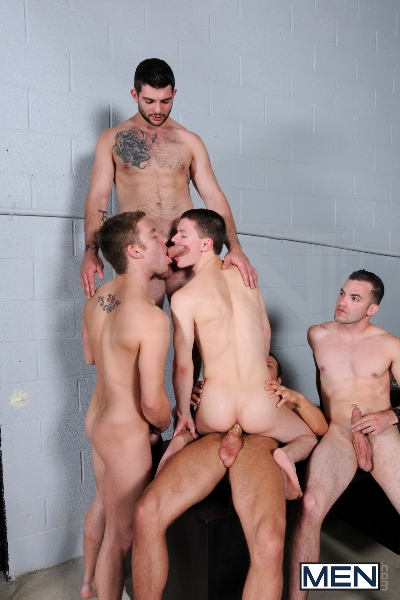 On The Set - Tyler Sweet - Tony Paradise - Spencer Fox - Sebastian Keys - Brad Foxx - Jizz Orgy - Men of Gay Porn - Photo #13