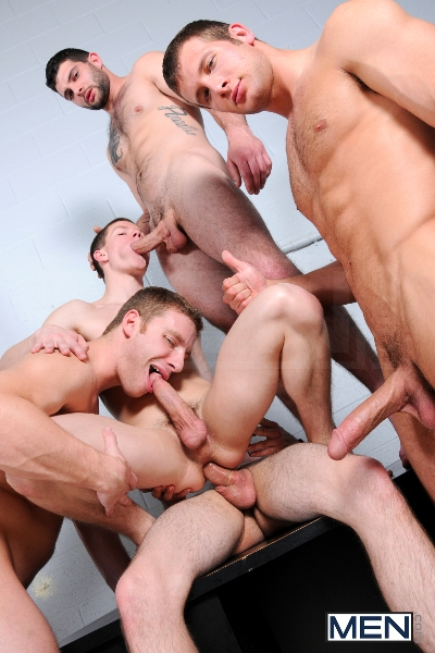 On The Set - Tyler Sweet - Tony Paradise - Spencer Fox - Sebastian Keys - Brad Foxx - Jizz Orgy - Men of Gay Porn - Photo #17