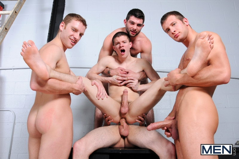 On The Set - Tyler Sweet - Tony Paradise - Spencer Fox - Sebastian Keys - Brad Foxx - Jizz Orgy - Men of Gay Porn - Photo #18