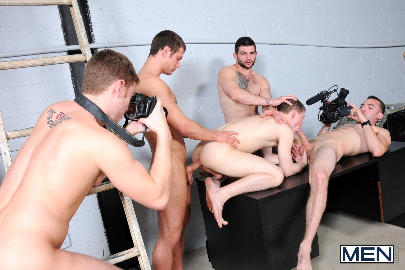 On The Set - Tyler Sweet - Tony Paradise - Spencer Fox - Sebastian Keys - Brad Foxx - Jizz Orgy - Men of Gay Porn - Photo #20
