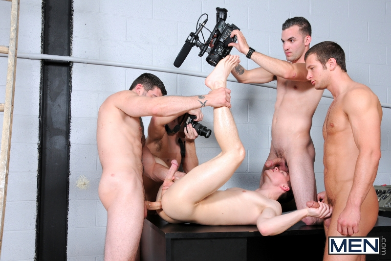 On The Set - Tyler Sweet - Tony Paradise - Spencer Fox - Sebastian Keys - Brad Foxx - Jizz Orgy - Men of Gay Porn - Photo #22