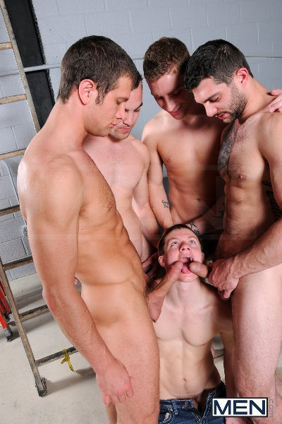On The Set - Tyler Sweet - Tony Paradise - Spencer Fox - Sebastian Keys - Brad Foxx - Jizz Orgy - Men of Gay Porn - Photo #8