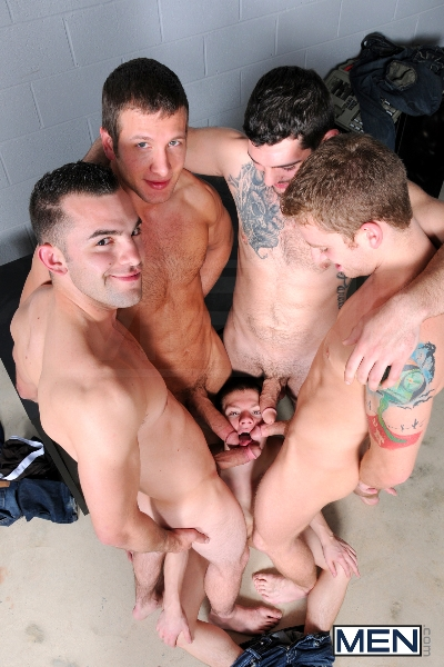 On The Set - Tyler Sweet - Tony Paradise - Spencer Fox - Sebastian Keys - Brad Foxx - Jizz Orgy - Men of Gay Porn - Photo #9