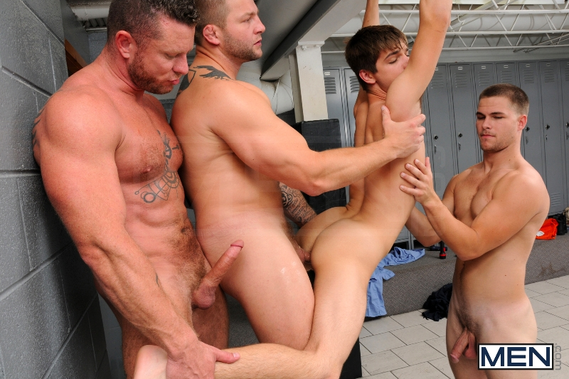 Prison Shower 3 - Johnny Rapid - Colby Jansen - Jimmy Johnson - Charlie Harding - Jizz Orgy - Men of Gay Porn - Photo #11