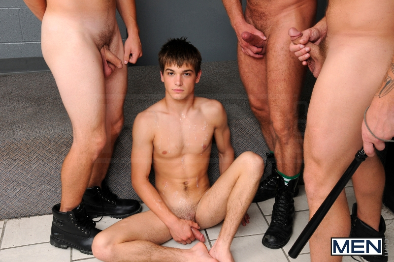 Prison Shower 3 - Johnny Rapid - Colby Jansen - Jimmy Johnson - Charlie Harding - Jizz Orgy - Men of Gay Porn - Photo #20