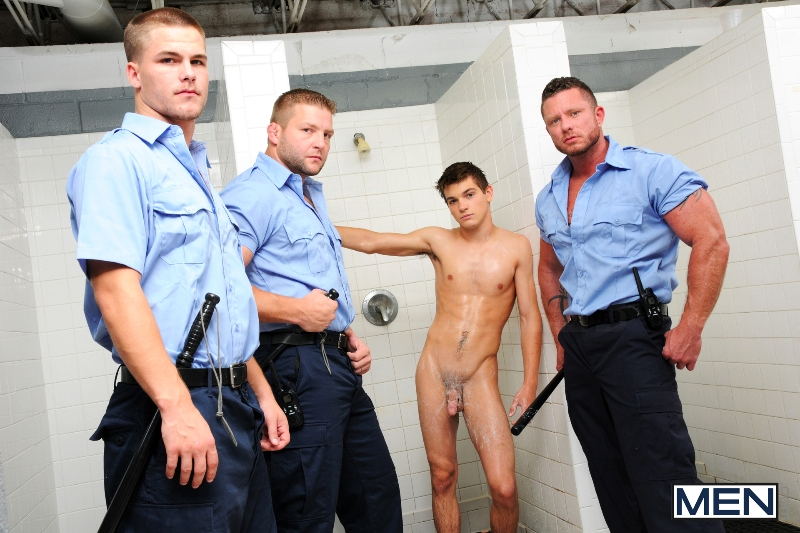 Prison Shower 3 - Johnny Rapid - Colby Jansen - Jimmy Johnson - Charlie Harding - Jizz Orgy - Men of Gay Porn - Photo #4