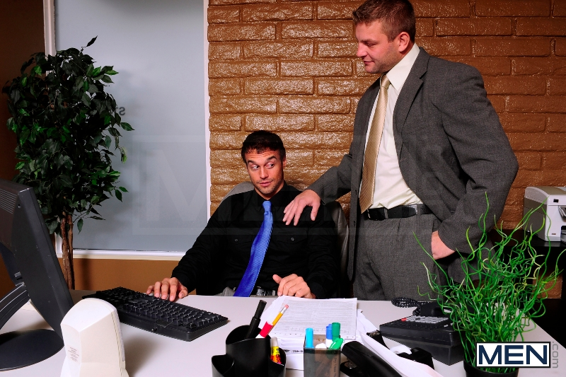 Touchy Boss - Colby Jansen - Rocco Reed - The Gay Office - Men of Gay Porn - Photo #5