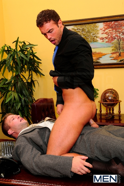 Touchy Boss - Colby Jansen - Rocco Reed - The Gay Office - Men of Gay Porn - Photo #8