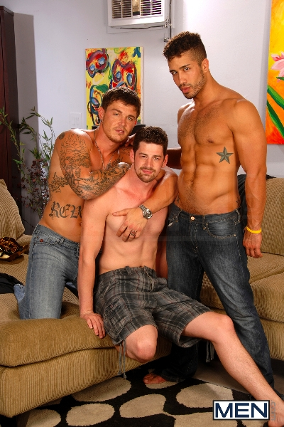After The Masquerade - Trey Turner - Sebastian Young - Andrew Stark - Drill My Hole - Men of Gay Porn - Photo #1