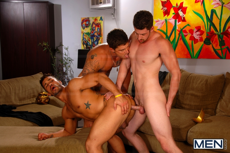 After The Masquerade - Trey Turner - Sebastian Young - Andrew Stark - Drill My Hole - Men of Gay Porn - Photo #10