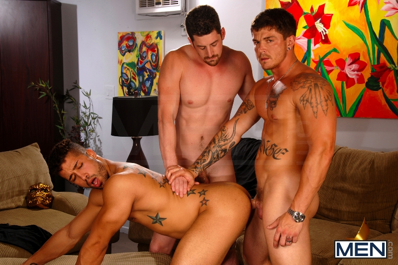 After The Masquerade - Trey Turner - Sebastian Young - Andrew Stark - Drill My Hole - Men of Gay Porn - Photo #11