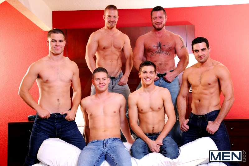 Turn Me Into A Whore 3 - Johnny Rapid - Jimmy Johnson - Charlie Harding - Liam Magnuson - Jack King - Riley Banks - Jizz Orgy - MEN.COM - Men of Gay Porn - Photo #1